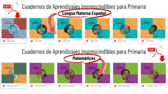Cuadernos de Aprendizajes Fundamentales para primaria en Español y Matemáticas