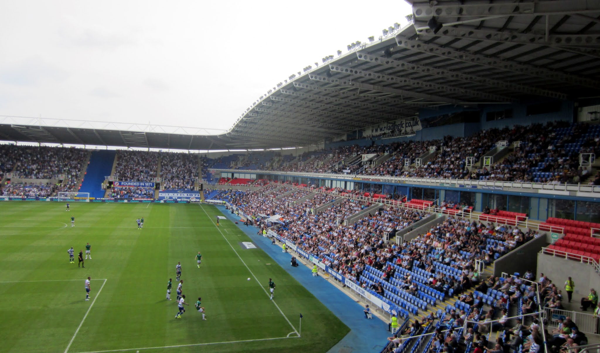 View of the West Stand at the Madejski Stadium