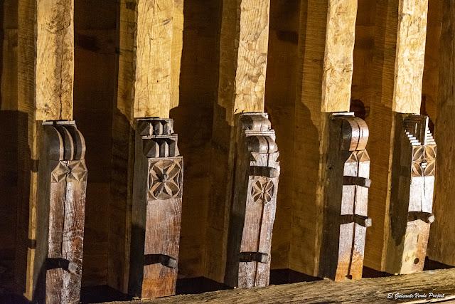 La Antigua, vigas decoradas - Zumarraga