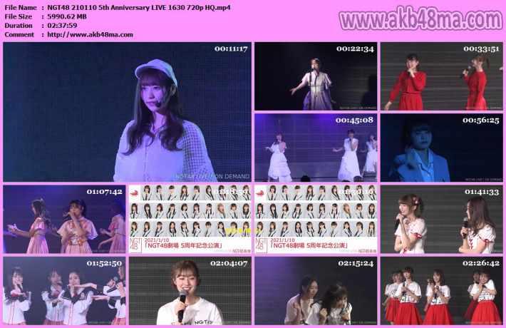 210110 NGT48劇場 5周年記念公演