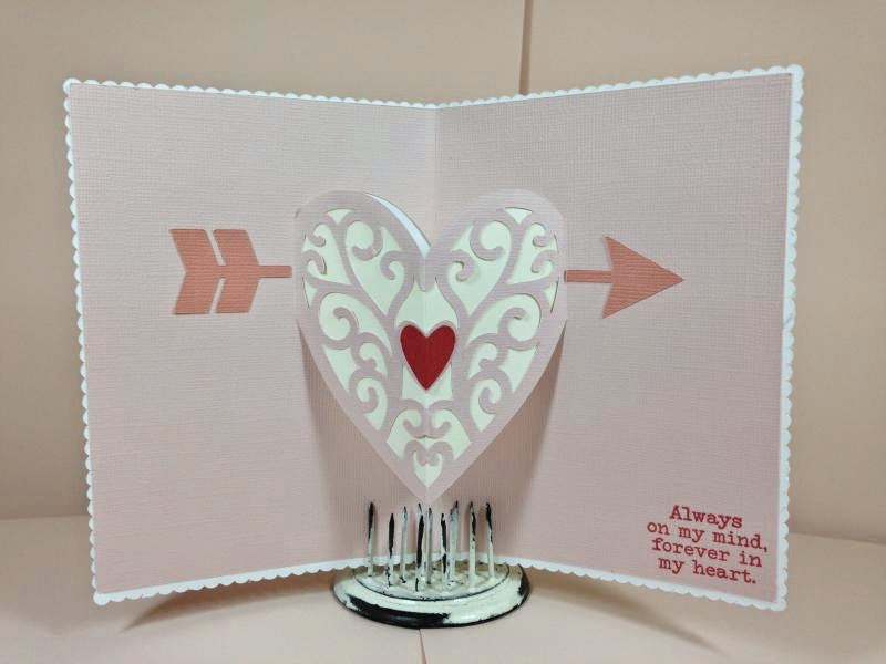 Close To My Heart Artfully Sent Valentine Pop-Up card inside