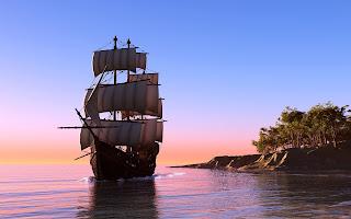 art sailboat sail caravel tranquillity