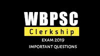 wbpsc clerkship exam 2019 gk