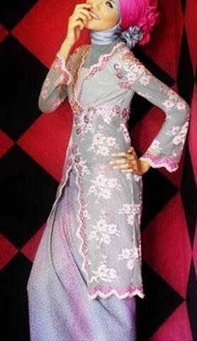model kebaya brokat muslim untuk remaja