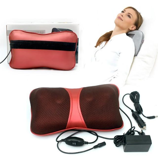 Gối massage hồng ngoại 6 bi chống xơ vữa động mạch