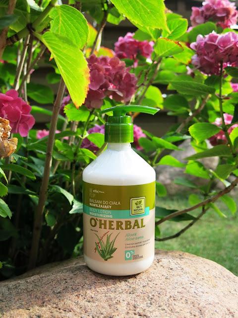 Nawilżający balsam do ciała z ekstraktem z aloesu O'Herbal - ElfaPharm.
