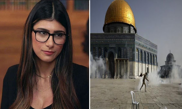 ميا خليفة تتضامن مع فلسطين