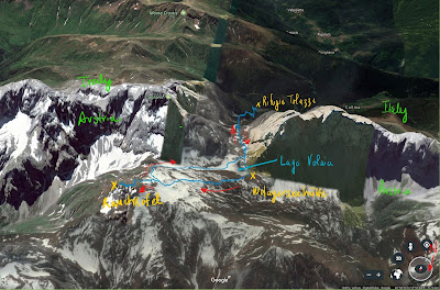 Another view of the hike, annotated.