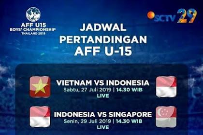 Jadwal AFF U15 di SCTV