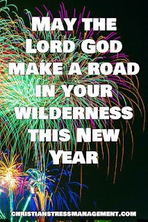 Christian New Year Wishes May the Lord God make a road in your wilderness this New Year (Isaiah 43:19)