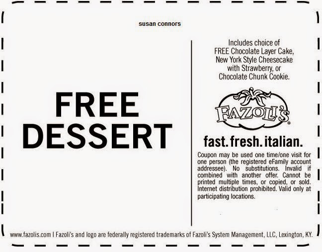 Fazoli's coupon code