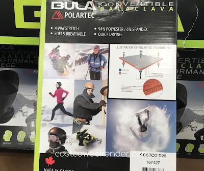 Costco 167427 - Bula 4-in-1 Convertable Performance Fleece Balaclava - to protect your face