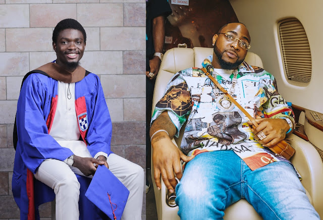 First-Class Graduate Appreciates Davido, Others For Donating To Ensure He Studies Abroad