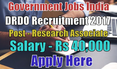 Defence Research & Development Organisation DRDO Recruitment 2018
