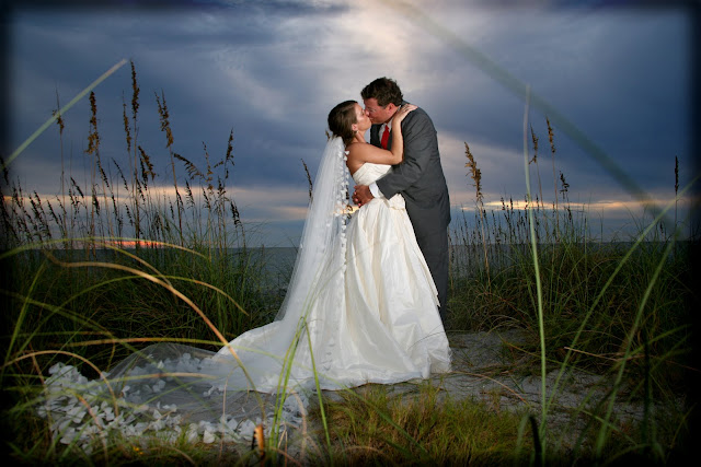 beach wedding at south seas resort