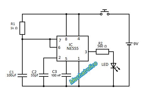 IR remote control circuit diagram