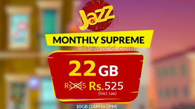 Jazz Monthly Supreme Internet Package