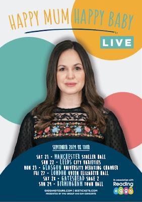 Giovanna Fletcher presents HAPPY MUM HAPPY BABY LIVE September 2019 UK Tour