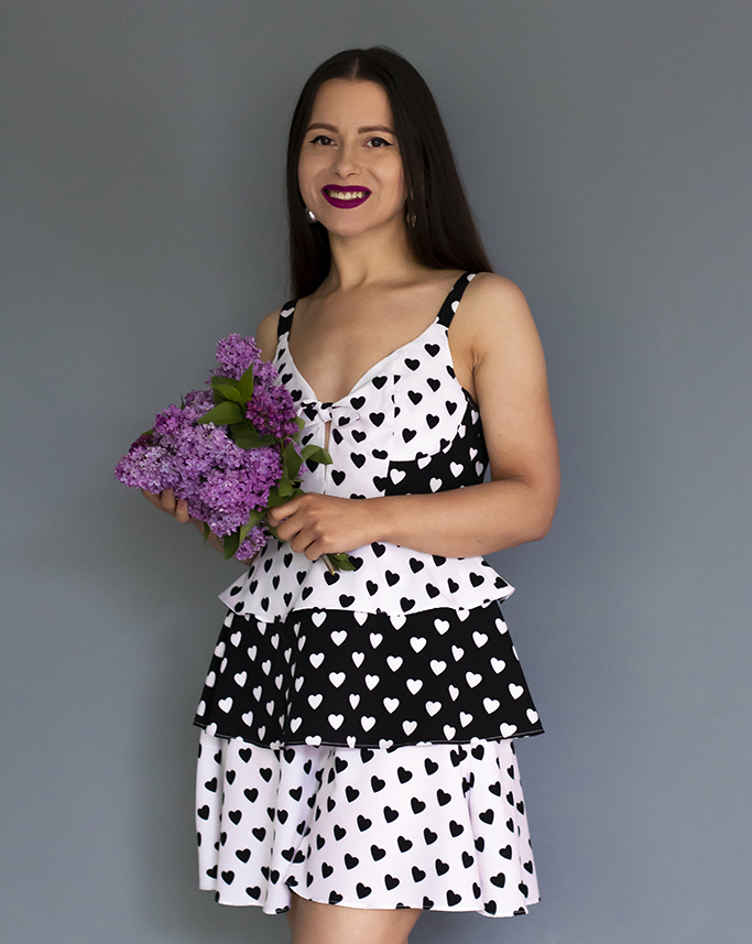 adina nanes femmeluxe dress with hearts