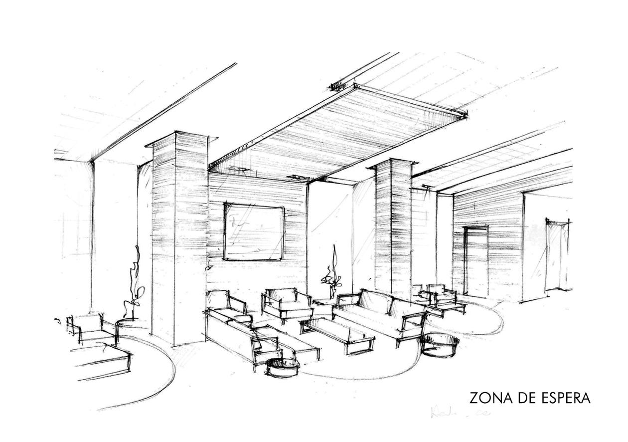 Revista digital apuntes de arquitectura bocetos a mano for Comedor para dibujar