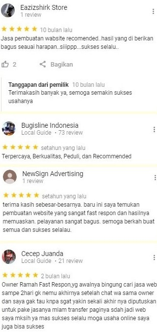 Jasa Pembuatan Website Toko Online Testimoni 2