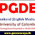PGDE - Weekend Course (English Medium) : University of Colombo