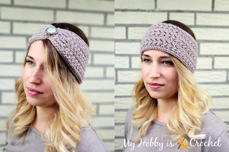 Chic Aran Headband / Earwarmer by Kinga @ My Hobby is Crochet