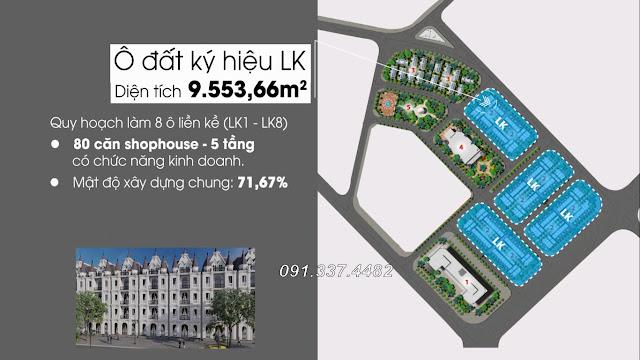 Thiết kế giá bán khu Yellow Helianthus Center Red River dự án biệt thự liền kề shophouse Cổ Dương tiên Đông Anh Hà Nội