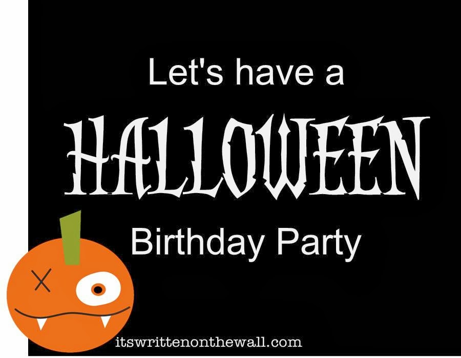 fabulous halloween birthday party printable invitation candy wraps cupcake toppers etc - Halloween Birthday