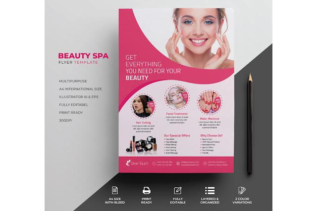 Beauty Flyer Amp Spa Flyer Template Free Dwonload