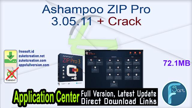 Ashampoo ZIP Pro 3.05.11 + Crack