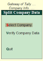 How to Split Tally Data for New Financial Year in Hindi