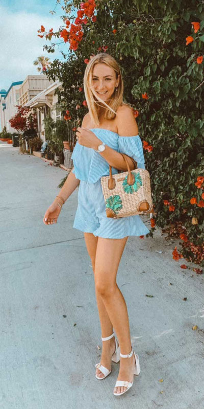 Perfect Instagram worthy outfits? See these 25 Breathtaking Fall Outfits for Going out. Women's Style + Date Outfits via higiggle.com | blue romper | #falloutfits #dateoutfits #casualoutfits #romper