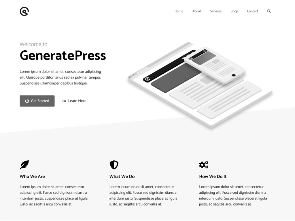 GENERATEPRESS CHILDTHEME