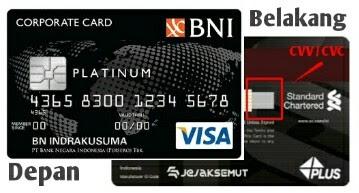 letak kode cvv cvc kartu kredit dan debit bni