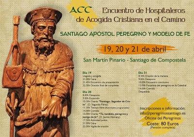 Programa del Encuentro de Hospitaleros de Acogida Cristiana en el Camino