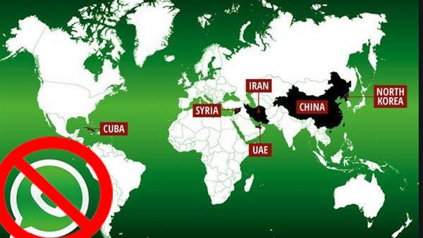 قائمة البلدان التي تم حظر تطبيق الواتس أب فيها منها دول عربية