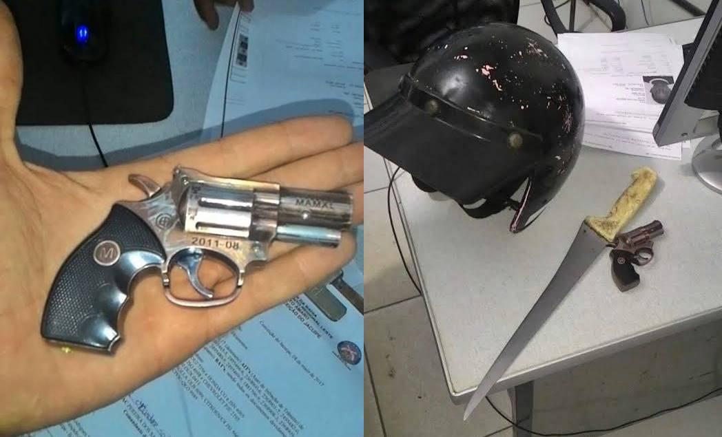 ... repassadas ao Berimbau Notícias, após abordagem, foi encontrado em  posse dos suspeitos uma faca, um simulacro de arma de fogo e um capacete. 64252ed61e