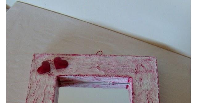 Specchio di carta pesta con decorazioni in gesso ceramico tutorial kreattivablog - Carta a specchio ...
