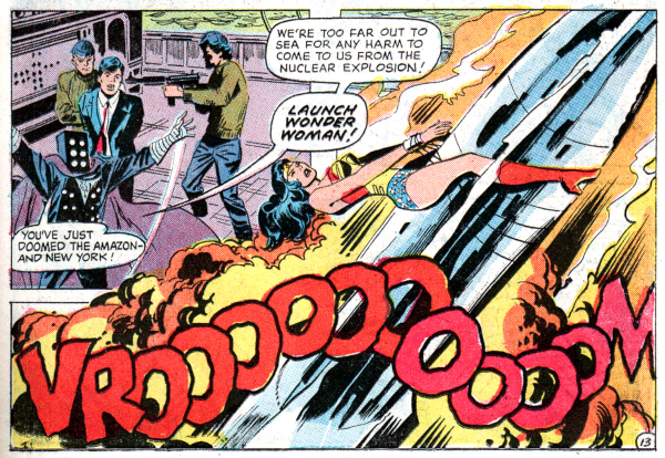 Wonder Woman #205, nuclear missile