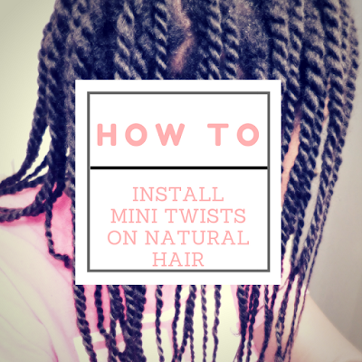 How to install mini twists on natural hair - ClassyCurlies.com