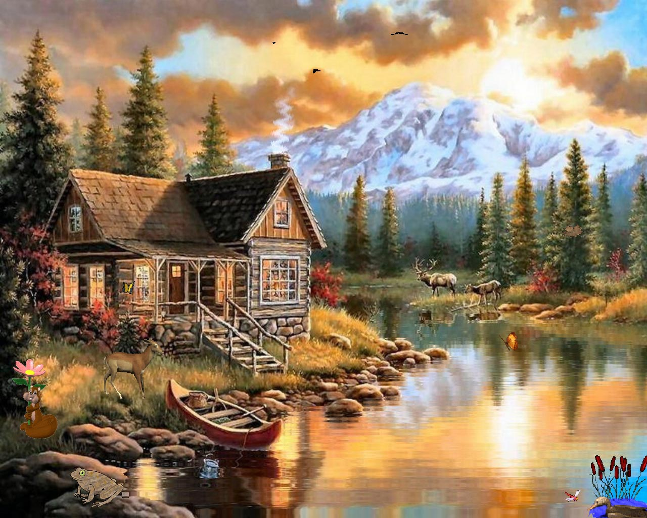 scenery nature wallpapers quality natural sceneries painting background landscape scenes paradise paintings cabin paint mountain screensavers screen desktop screensaver hd