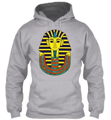 Pharaoh of Egypt T Shirt and Hoodie, King Pharaoh Tutankhamun T-Shirt Egypt Tut Egyptian Gift Tee