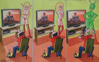 Mem ilustrujący jak mózg oszukuje człowieka.