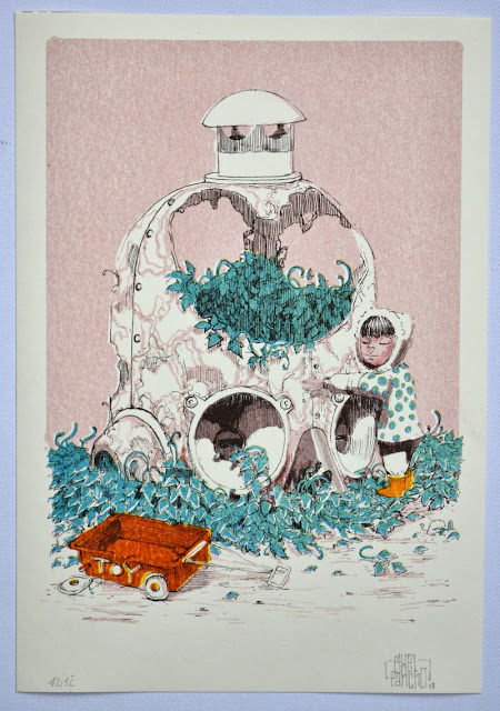 """Pixel Pancho """"Mechanical Revolution"""" Limited Edition Riso Print 1"""