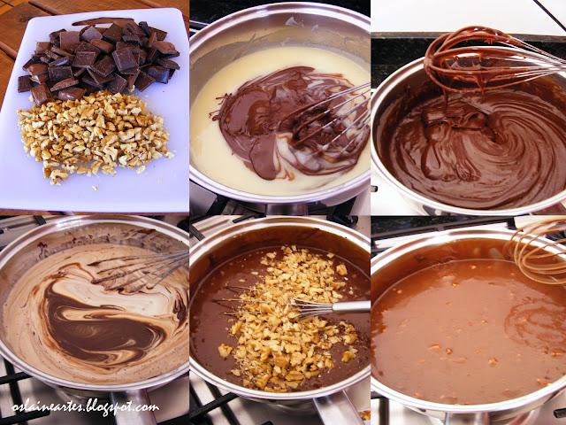 Estrogonofe de Chocolate com Nozes