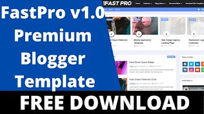 Download FastPro v1.0  Responsive News and Magazine Blogger Template