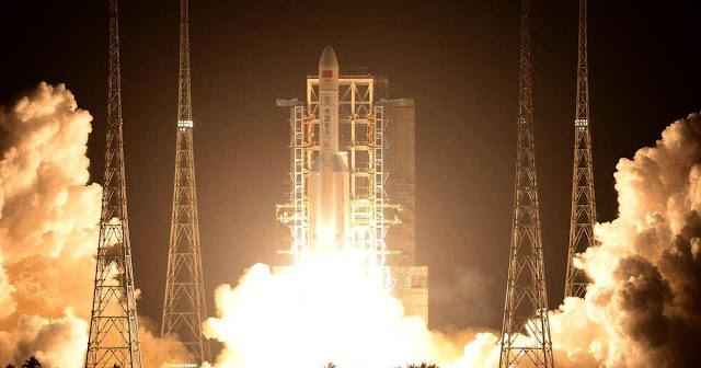 Plummeting Chinese Rocket Crashes Into Indian Ocean