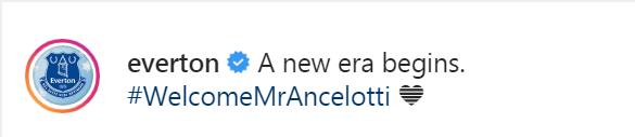Everton Instagram Post