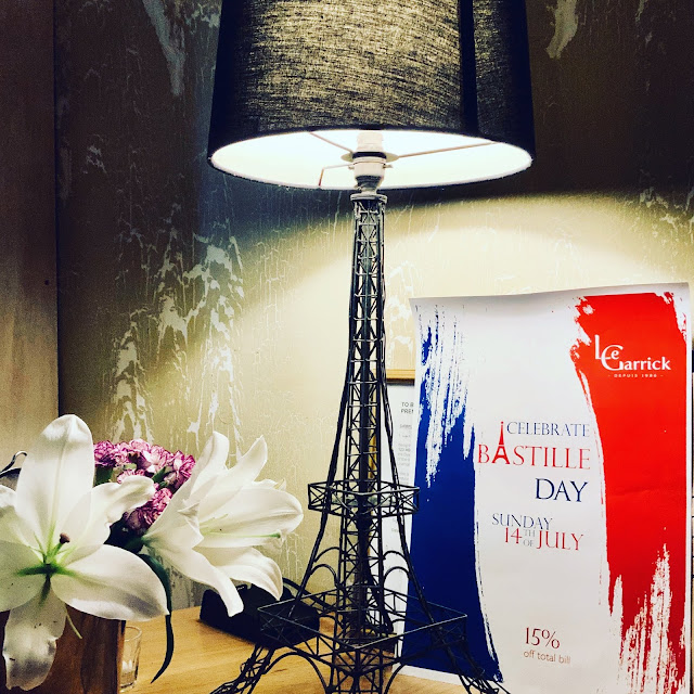 Bastille Day discount offer at Le Garrick, Covent Gardenm London